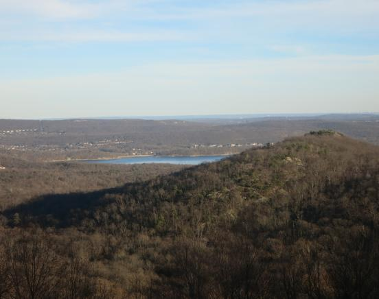 Wanaque Reservoir and Wyanokie High Point from viewpoint along the Will Monroe Loop - Photo by Daniel Chazin