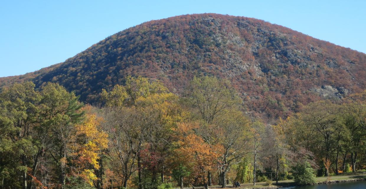 View of Anthony's Nose from Hessian Lake at Bear Mountain - Photo by Daniel Chazin