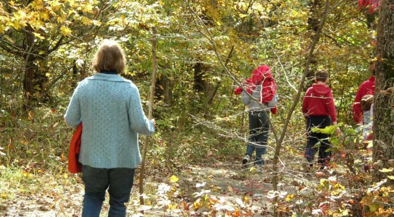 Family Hike In Autumn. Photo By Sylvia Sky.