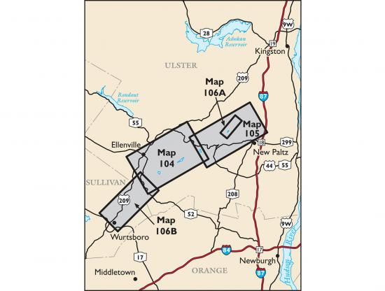 Shawangunk Trails Map Locator Map